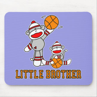 Sockmonkey Basketball Little Brother Mouse Pad