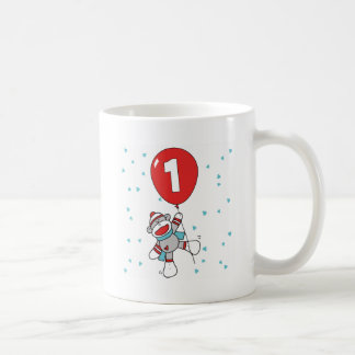 Sockmonkey First Birthday Coffee Mugs