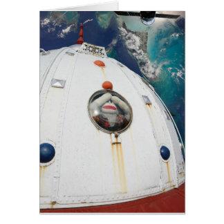 SockMonkey in Space Blank Card