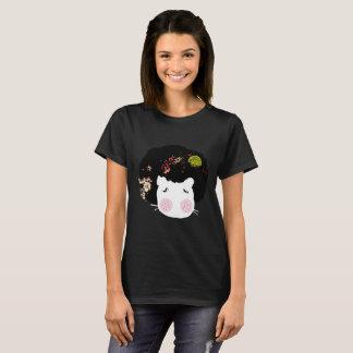 Socks doll Hippo Animal AfroHair Graphic T-shirt. T-Shirt