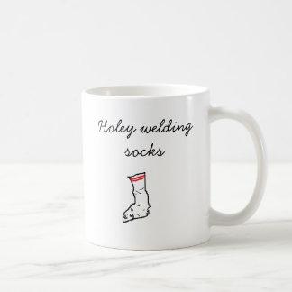 socks, Holey welding socks Coffee Mug