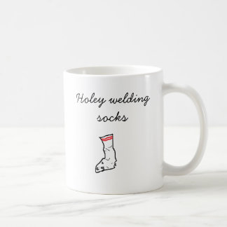 socks, Holey welding socks Classic White Coffee Mug