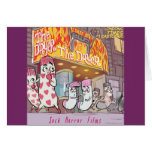 Socks Horror Films The Dryer Funny Card
