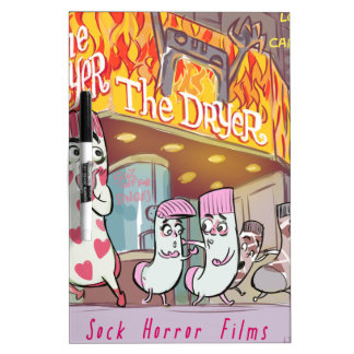 Socks Horror Films The Dryer Funny Dry Erase Boards