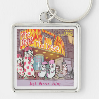 Socks Horror Films The Dryer Funny Keychain