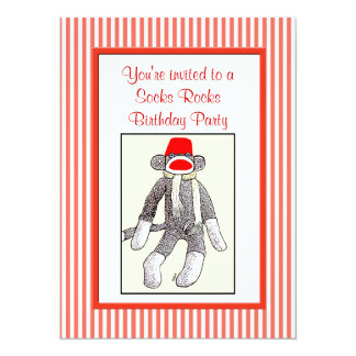 Socks Rocks Birthday Party Card