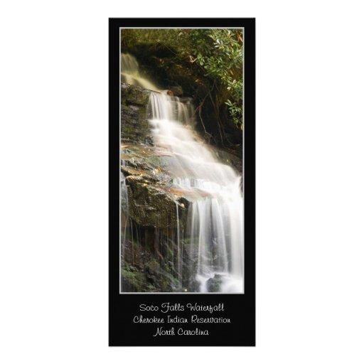 Soco baja señal de Carolina del Norte de la cascad Lona Personalizada