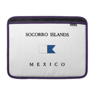 Socorro Islands Mexico Alpha Dive Flag MacBook Air Sleeve