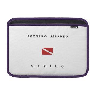 Socorrow Islands Mexico Scuba Dive Flag Sleeve For MacBook Air