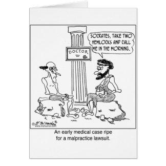 Sócrates archiva un pleito de la negligencia tarjeta de felicitación