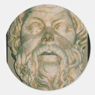 Sócrates del filósofo etiquetas redondas