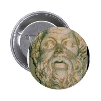 Sócrates del filósofo pin redondo 5 cm