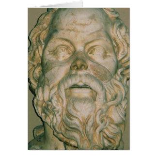 Sócrates del filósofo tarjeta de felicitación