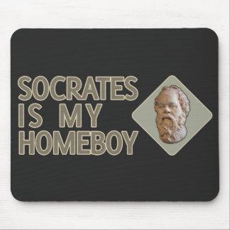 Sócrates es mi Homeboy Alfombrillas De Ratones