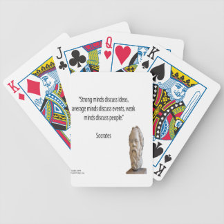"""Socrates & Famous """"Minds"""" Quote Bicycle Playing Cards"""