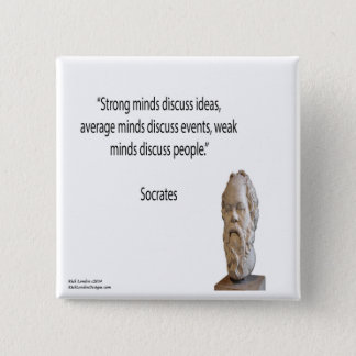 "Socrates & Famous ""Minds"" Quote Button"