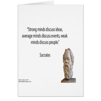 """Socrates & Famous """"Minds"""" Quote Card"""