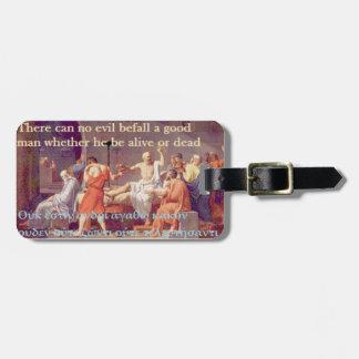 Socrates famous quote - Good man Bag Tag