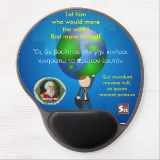 Socrates famous quote –Move the world Gel Mouse Pad