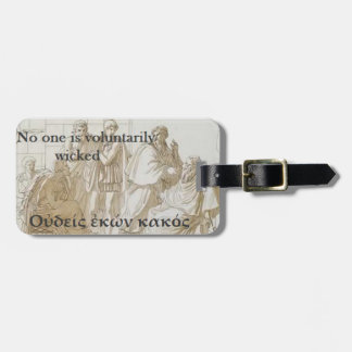 Socrates famous quote - No one voluntarily wicked Luggage Tag