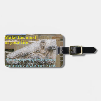Socrates famous quote - Quality of life Luggage Tag