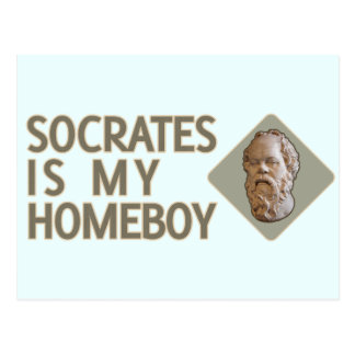 Socrates is my Homeboy Postcard