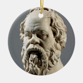 Socrates, marble head, copy from a bronze from the ceramic ornament