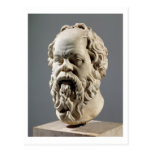 Socrates, marble head, copy from a bronze from the postcard