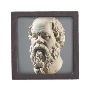 Socrates, marble head, copy from a bronze from the premium jewelry boxes