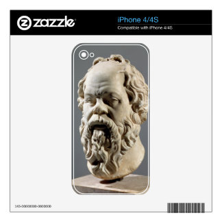 Socrates, marble head, copy from a bronze from the skin for iPhone 4