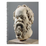 Socrates, marble head, copy from a bronze from the spiral notebook
