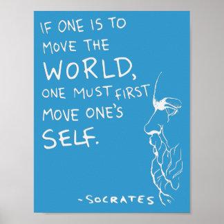 """Sócrates """"mueven el poster de la cita del mundo"""" ("""