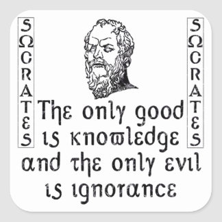 Sócrates Pegatina Cuadrada