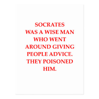 socrates postcard