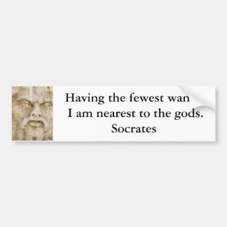 Socrates QUOTATION Bumper Sticker