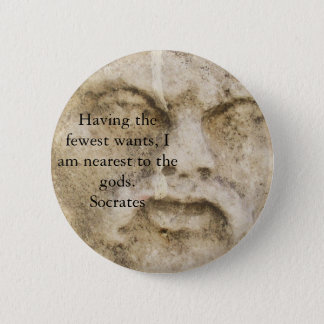 Socrates QUOTATION Pinback Button