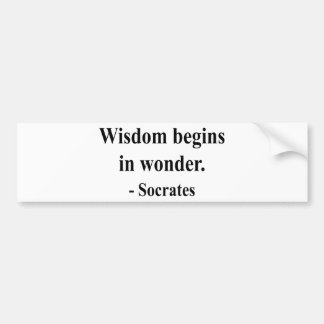 Socrates Quote 1a Bumper Sticker