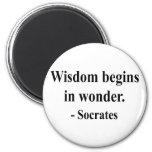 Socrates Quote 1a Fridge Magnets