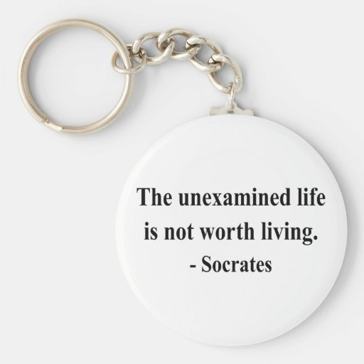 Socrates Quote 2a Key Chain