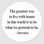 Socrates Quote 4a Round Stickers