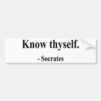 Socrates Quote 5a Bumper Sticker