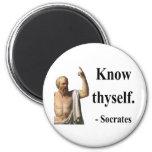 Socrates Quote 5b 2 Inch Round Magnet