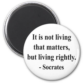 Socrates Quote 6a Refrigerator Magnets