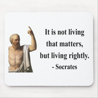 Socrates Quote 6b Mouse Pad