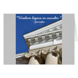 Socrates Quote Law Degree Congratulations Card