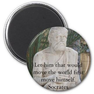 Socrates Quote Refrigerator Magnets