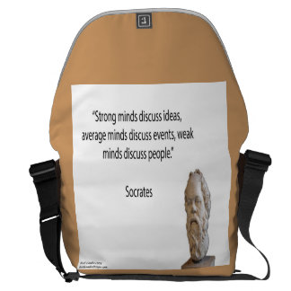 Socrates & Strong Minds Quote Messenger Bag