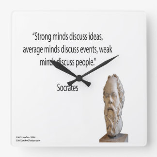 Socrates & Strong Minds Quote Wall Clock