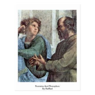 Sócrates y Jenofonte de Raffael Postales