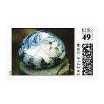 """Socttish fold"" cat rock stamp"